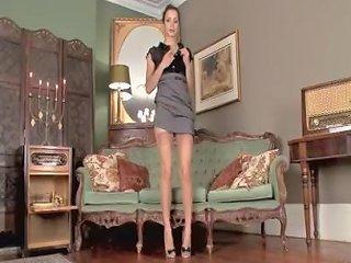 RedTube Porno - Hot Brunette Masturbates In Her Leopard Print Heels And Vintage Nylons 124 Redtube Free Masturbation Porn