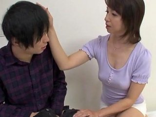 BravoTube Porno - Japanese Mom Fingers Her Pussy And Gives A Hot Blowjob To A Guy