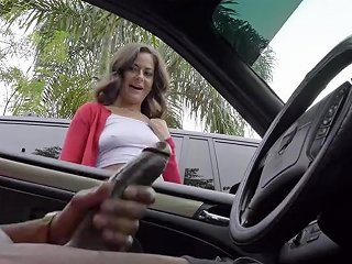 YouPorn Porno - Dick Flash Cute Teen Gives Me Hand Job In Public Parking Lot After She Sees My Big Black Cock