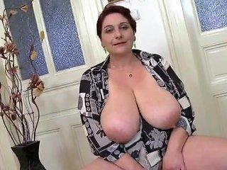 AlphaPorno Porno - Mom Fondles Her Huge Saggy Natural Tits