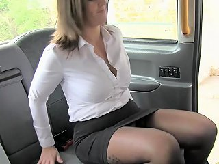 GotPorn Porno - Fake Taxi Office Girl In Stockings Rimming Anal Sex And Swallowing