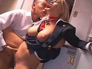 XHamster Porno - Japanese Guy Fucks Big Floppy Tits Blonde Stewardess