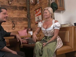 AnySex Porno - Busty German Frau With Pierced Pussy Maria Montana Fucks One Dude In The Pub
