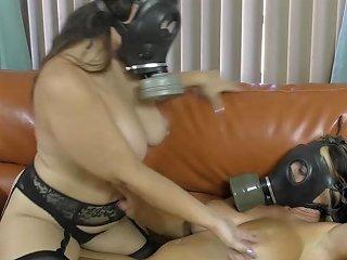 PornHub Porno - Two Lesbians Being Playful In Gasmasks