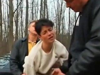 BravoTube Porno - Hot Wife Fucks In The Woods With Two Men Next To The Lake