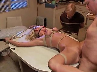 PornHub Porno - Bound Gangbang Tied To A Bench And Fucked