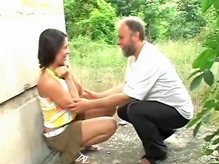 XHamster Porno - Older Beard Man Fucks Teen Under The Bridge Free Porn E5
