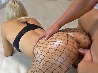 XHamster Porno - Creampie For Amateur Blonde In Fishnets Porn 44 Xhamster