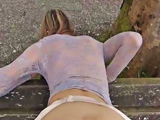 XHamster Porno - Fisting His Hot Wife Over A Public Park Bench
